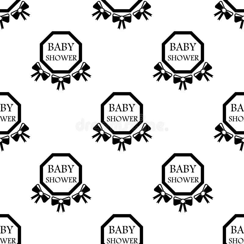icona della doccia di bambino dell'iscrizione Elemento dell'icona del bambino per i apps mobili di web e di concetto Showe senza  illustrazione vettoriale