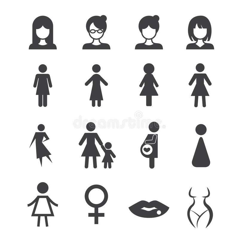 Icona della donna illustrazione vettoriale