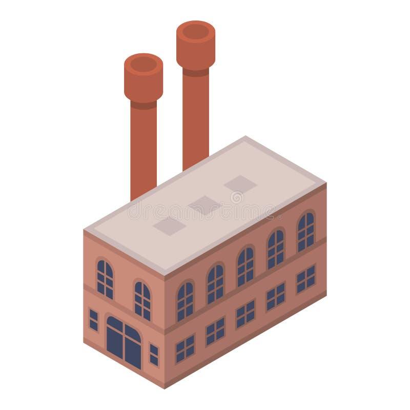 Icona della fabbrica di scarpa, stile isometrico illustrazione vettoriale
