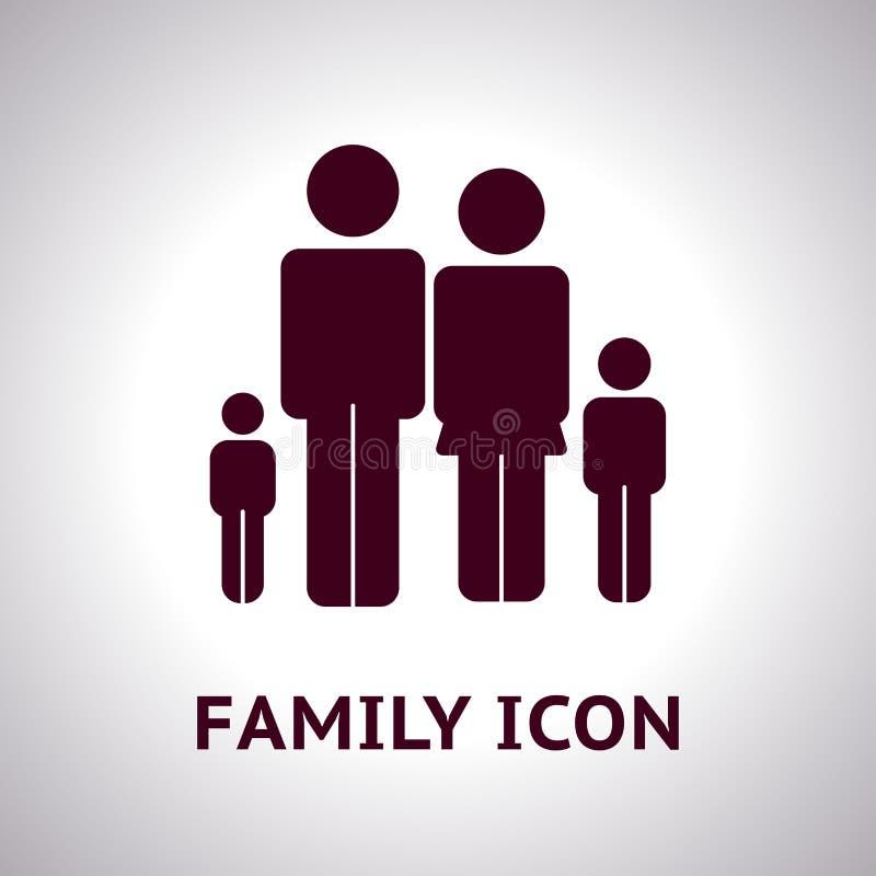 Icona della famiglia di vettore su fondo leggero royalty illustrazione gratis
