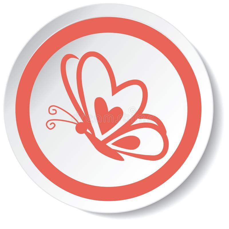 Icona della farfalla immagini stock libere da diritti