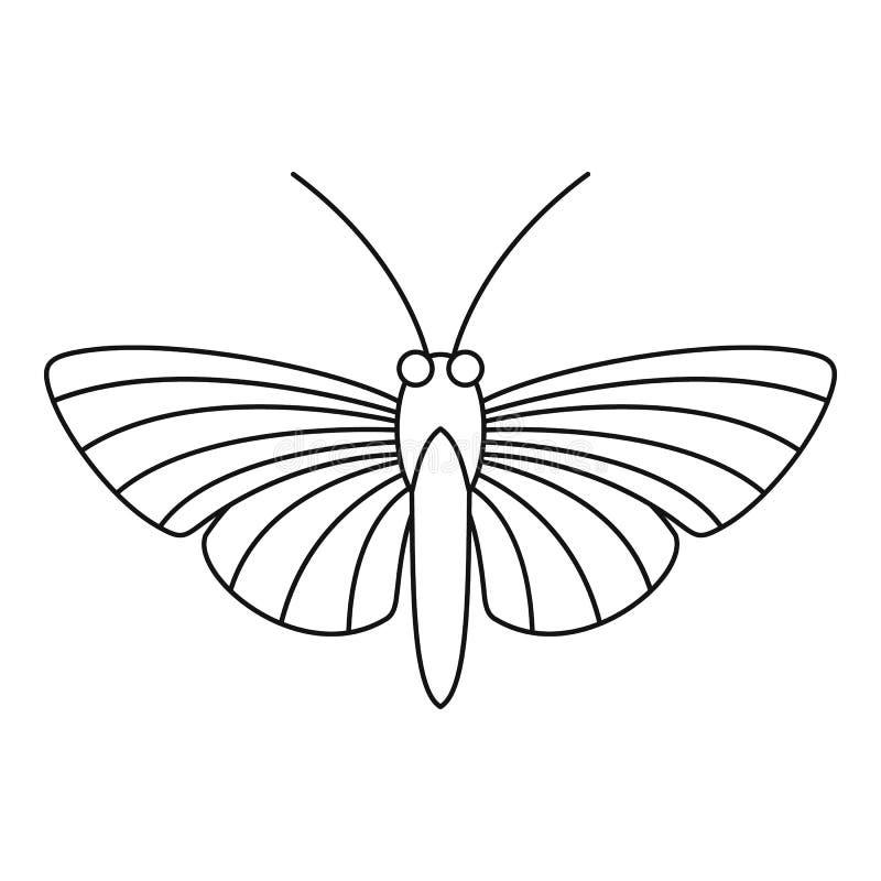 Icona della farfalla del lepidottero di falco, stile del profilo illustrazione vettoriale