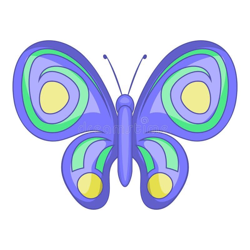 Icona della farfalla di notte, stile del fumetto illustrazione di stock