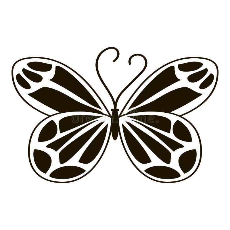 Icona della farfalla di notte, stile semplice royalty illustrazione gratis