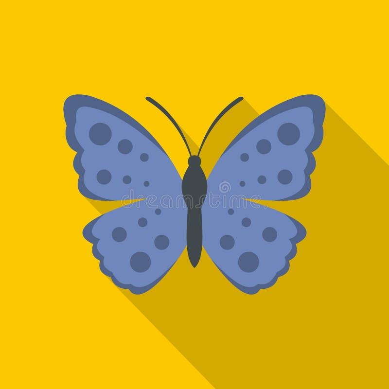 Icona della farfalla della primavera, stile piano royalty illustrazione gratis