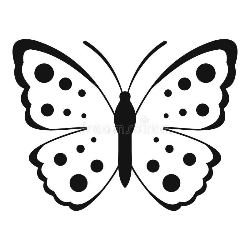 Icona della farfalla della primavera, stile semplice illustrazione di stock