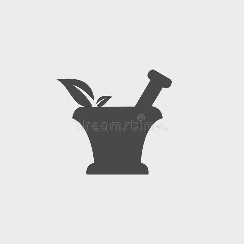 Icona della farmacia con la foglia royalty illustrazione gratis