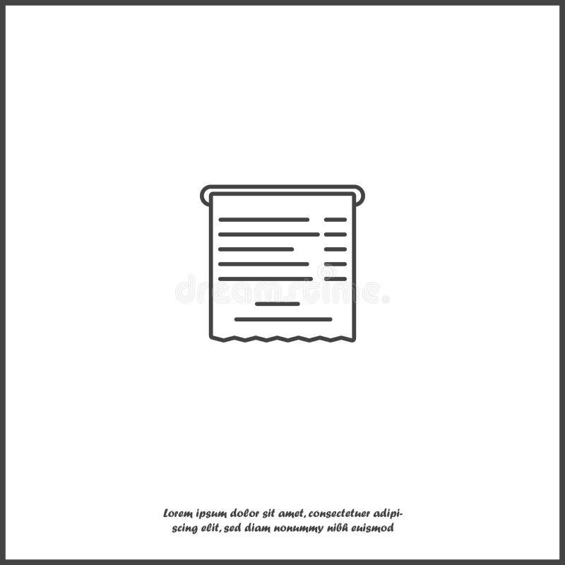 Icona della fattura di vettore su fondo isolato bianco Strati raggruppati per l'illustrazione di pubblicazione facile illustrazione vettoriale