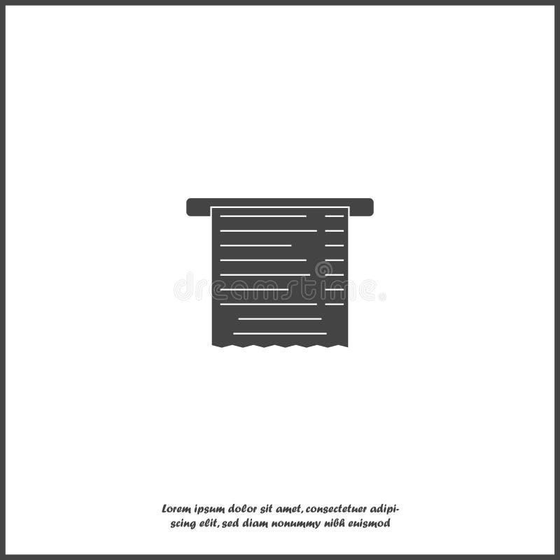 Icona della fattura di vettore su fondo isolato bianco Strati raggruppati per l'illustrazione di pubblicazione facile royalty illustrazione gratis