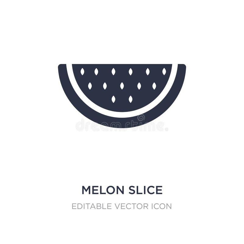icona della fetta del melone su fondo bianco Illustrazione semplice dell'elemento dal concetto dell'alimento illustrazione di stock