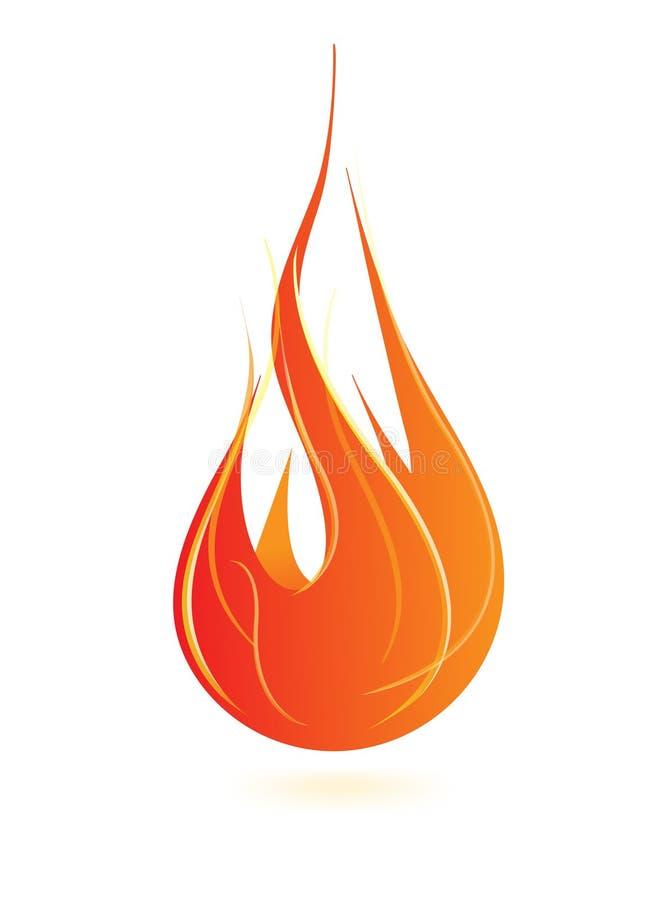Icona della fiamma del fuoco fotografia stock libera da diritti