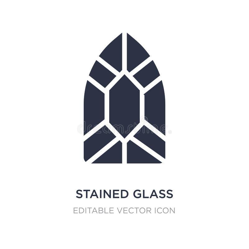 icona della finestra di vetro macchiato su fondo bianco Illustrazione semplice dell'elemento dal concetto vario illustrazione vettoriale