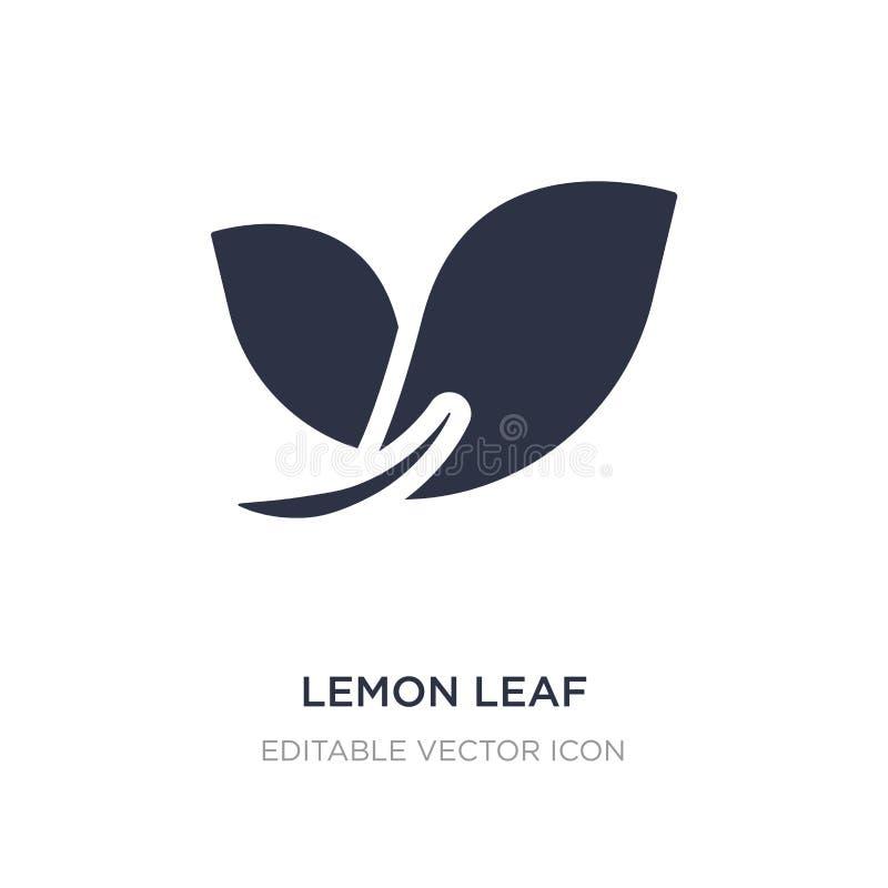 icona della foglia del limone su fondo bianco Illustrazione semplice dell'elemento dal concetto della natura illustrazione di stock