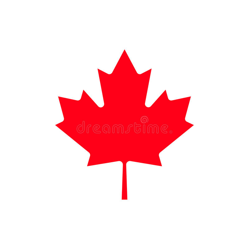 Icona della foglia di acero del Canada fotografia stock libera da diritti