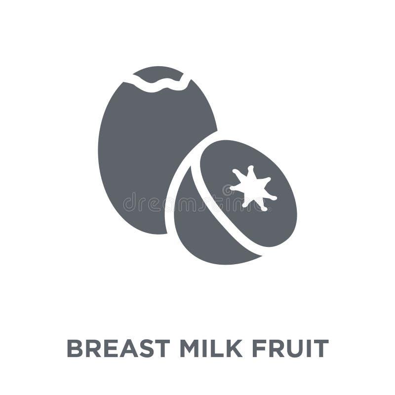 Icona della frutta del latte materno dalla raccolta delle verdure e della frutta illustrazione di stock