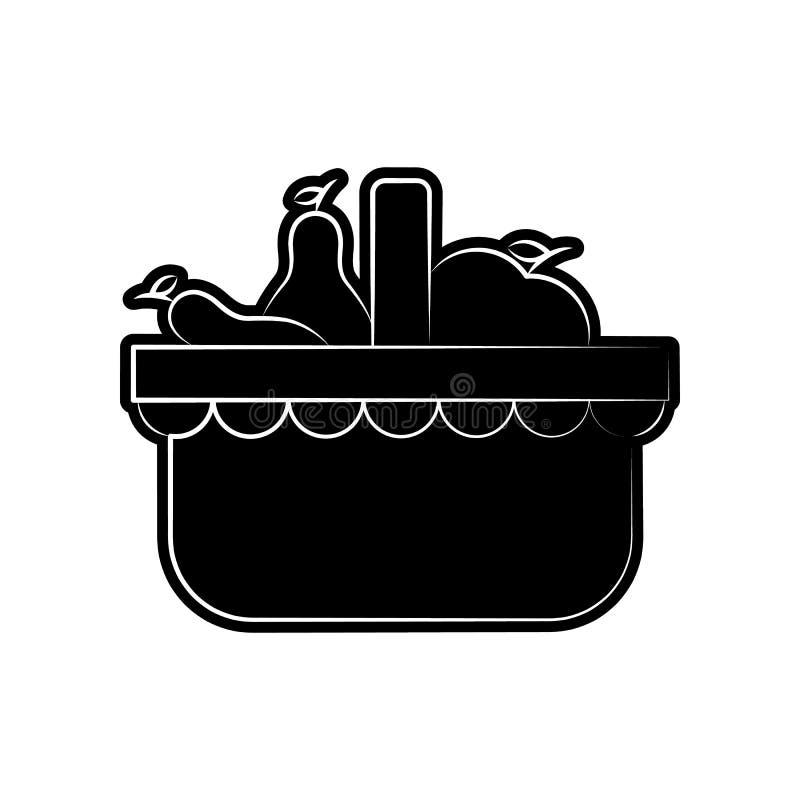 Icona della frutta Elemento di dia de muertos per il concetto e l'icona mobili dei apps di web Glifo, icona piana per progettazio illustrazione di stock