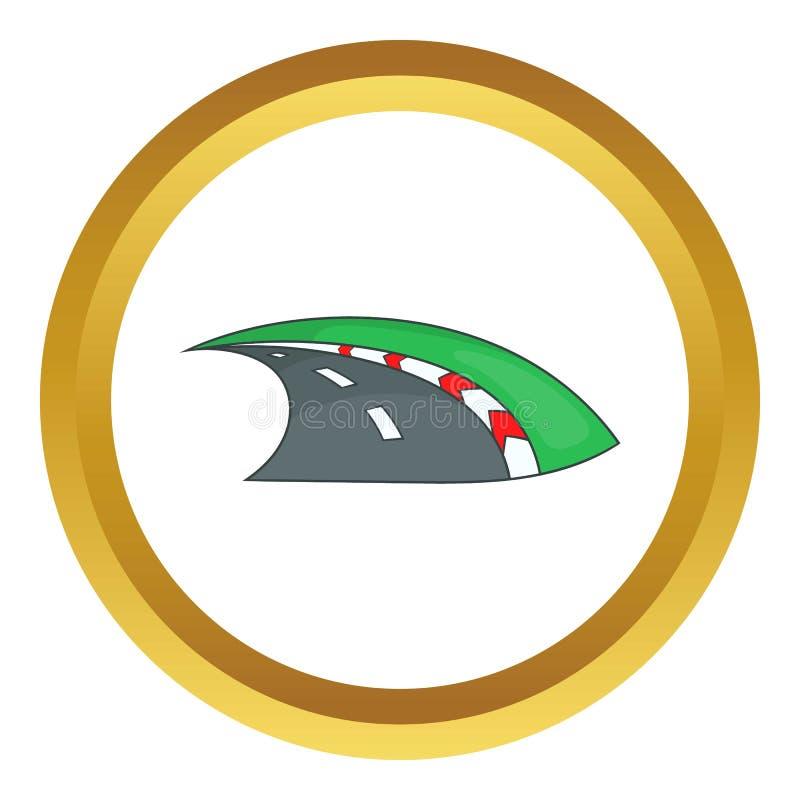 Icona della gara motociclistica su pista illustrazione vettoriale
