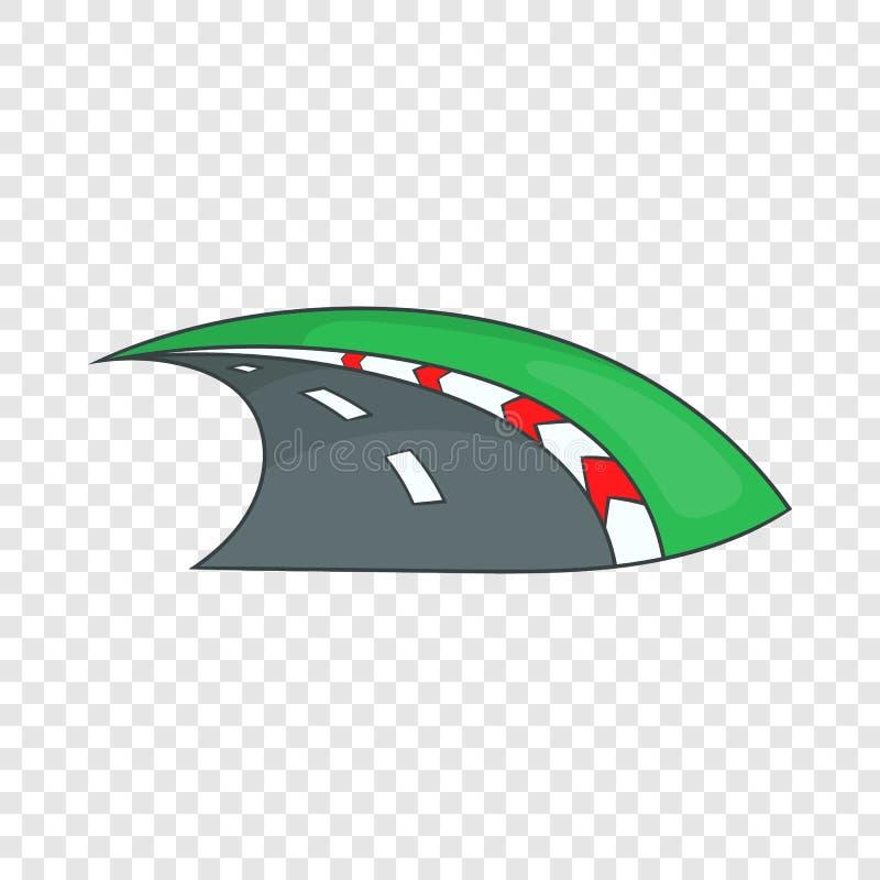 Icona della gara motociclistica su pista, stile del fumetto royalty illustrazione gratis