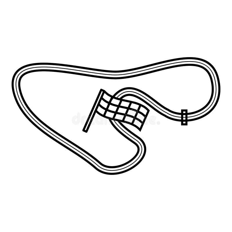Icona della gara motociclistica su pista, stile del profilo royalty illustrazione gratis