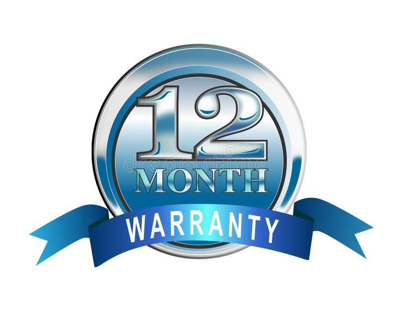icona della garanzia da 12 mesi illustrazione vettoriale