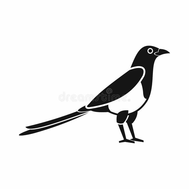 Icona della gazza dell'uccello, stile semplice illustrazione vettoriale