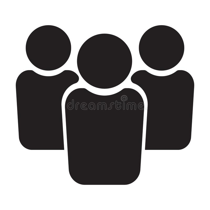 Icona della gente, icona del gruppo, icona del gruppo illustrazione di stock