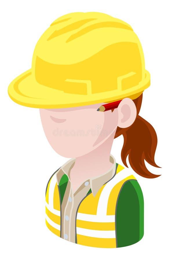 Icona della gente dell'avatar dell'appaltatore illustrazione vettoriale
