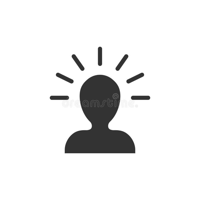 Icona della gente di mente nello stile piano Illustr umano di vettore di frustrazione royalty illustrazione gratis