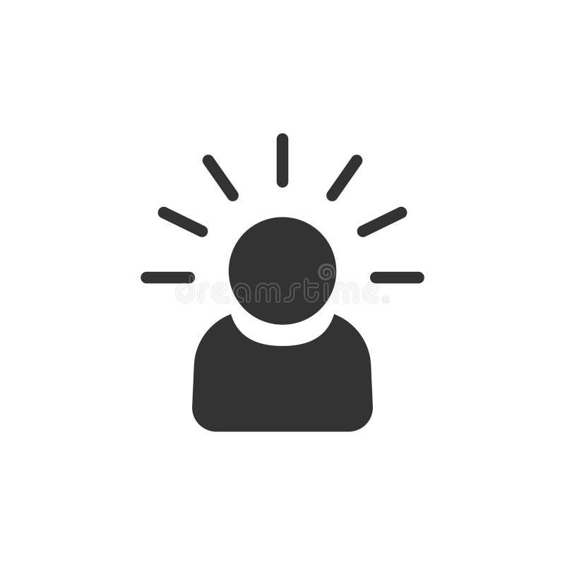 Icona della gente di mente nello stile piano Illustr umano di vettore di frustrazione illustrazione di stock