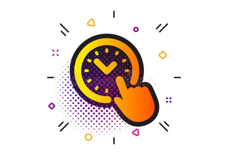 Icona della gestione di tempo segno dell'orologio vigilanza Vettore illustrazione vettoriale