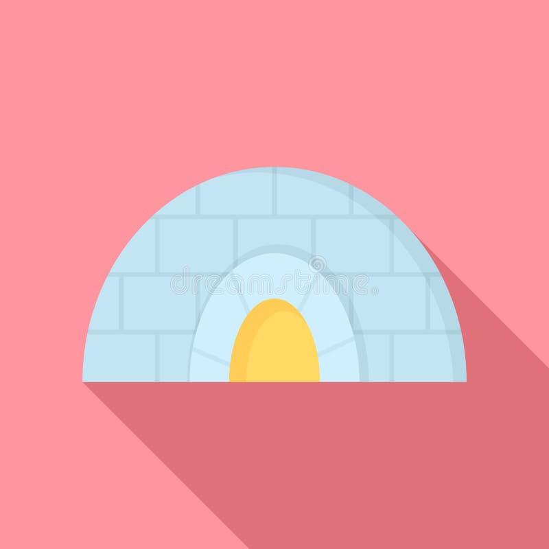 Icona della ghiacciaia, stile piano royalty illustrazione gratis