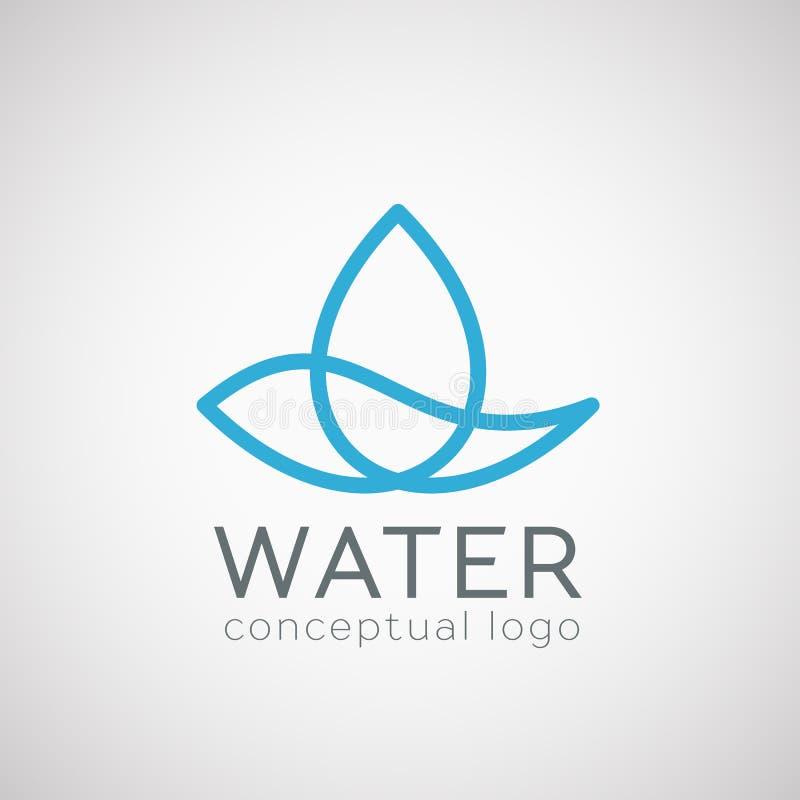 Icona della goccia di acqua di vettore royalty illustrazione gratis