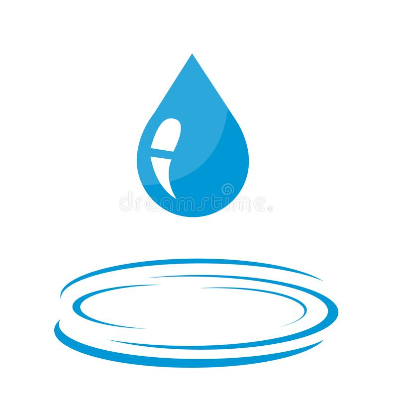 Icona della goccia di acqua royalty illustrazione gratis