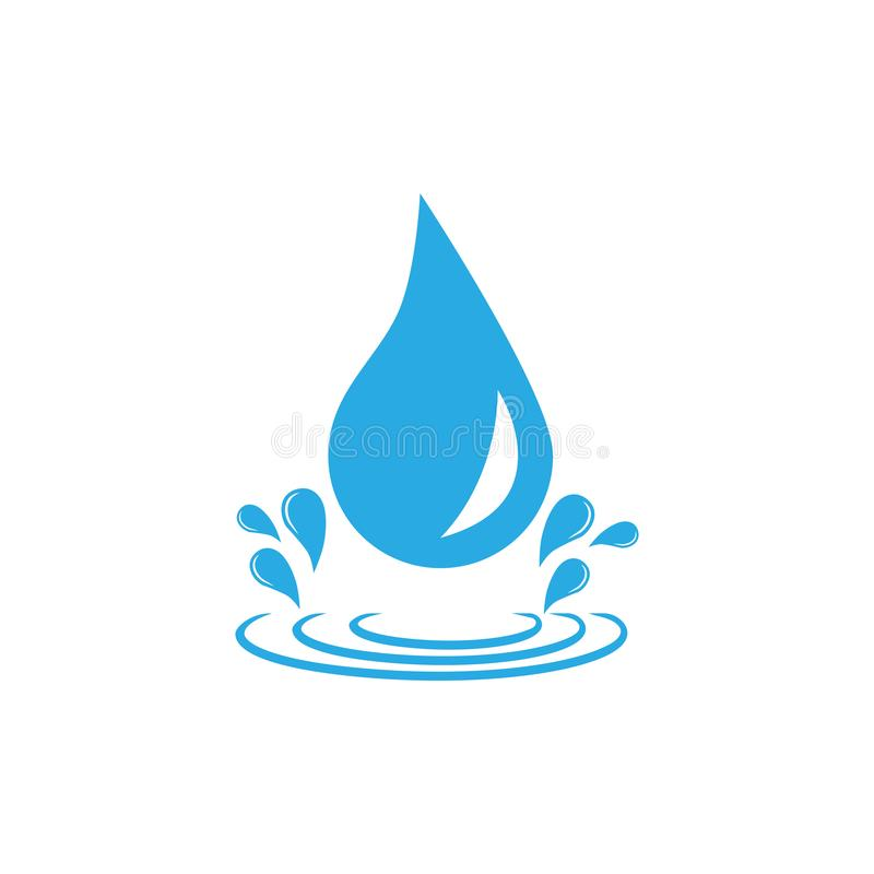 Icona della goccia di acqua Illustrazione di vettore, progettazione piana royalty illustrazione gratis