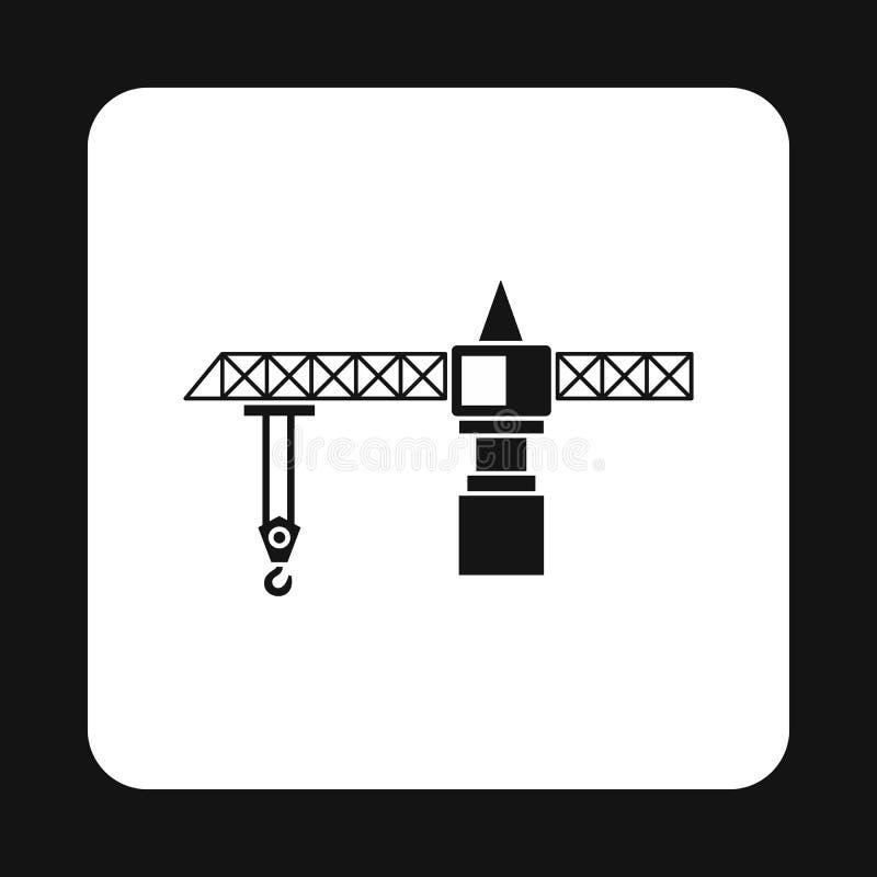 Icona della gru, stile semplice illustrazione di stock