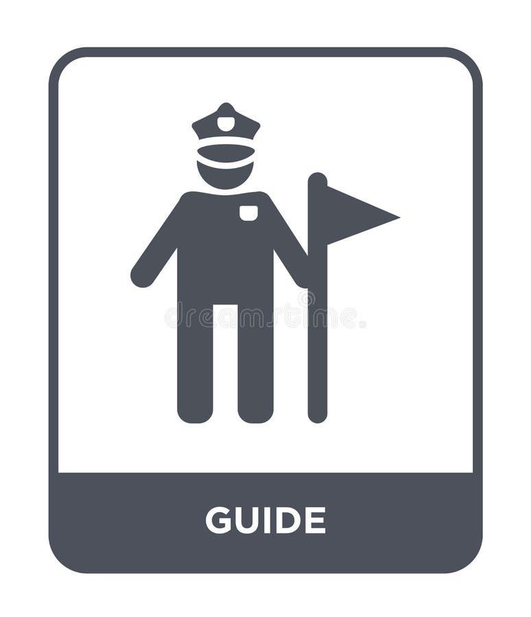 icona della guida nello stile d'avanguardia di progettazione icona della guida isolata su fondo bianco simbolo piano semplice e m illustrazione di stock