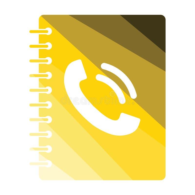 Icona della guida telefonica illustrazione vettoriale