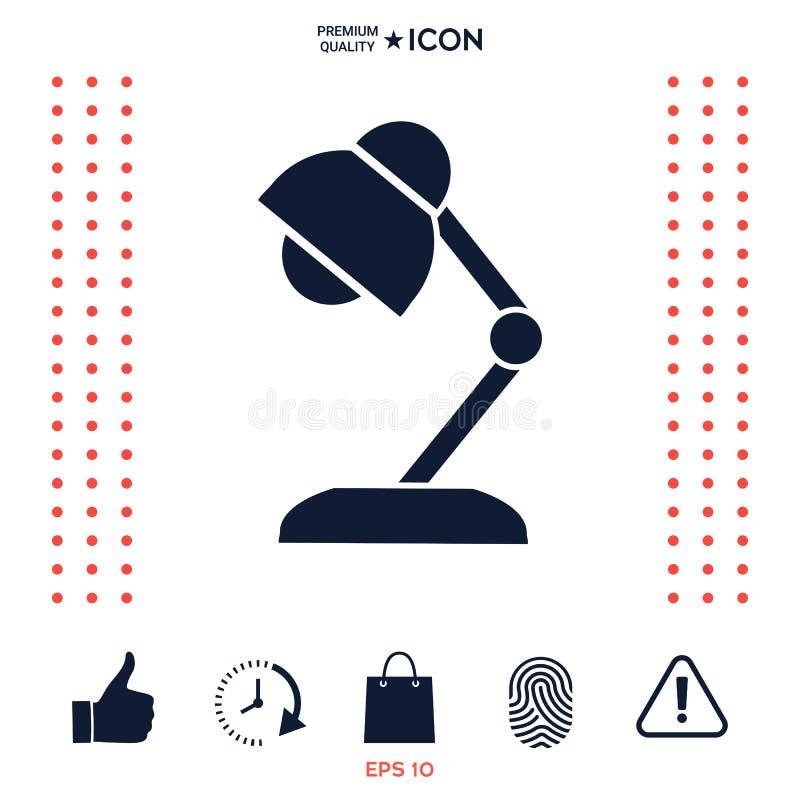 Download Icona Della Lampada Da Tavolo Illustrazione Vettoriale - Illustrazione di isolato, luminoso: 117977250