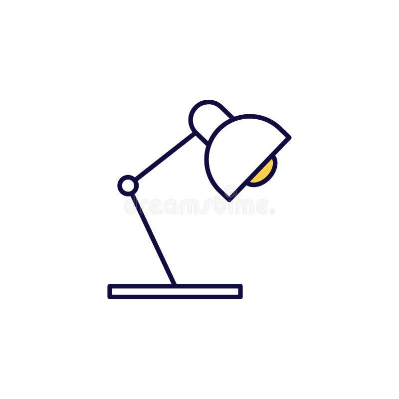 icona della lampada da tavolo Elemento dell'icona Web a colori semplice per concetti e app Web per dispositivi mobili È possibile royalty illustrazione gratis