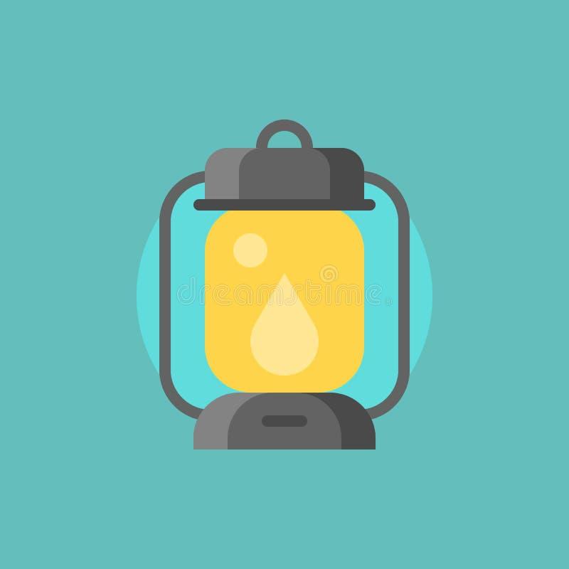 Icona della lampada di uragano illustrazione vettoriale