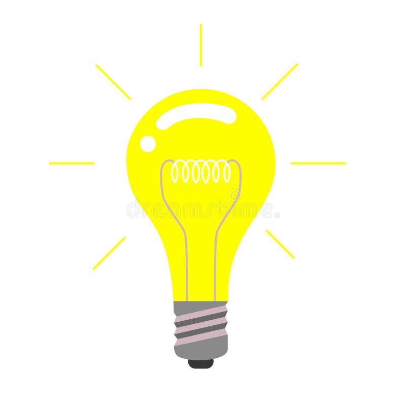Icona della lampadina di vettore, concetto di idea illustrazione di stock