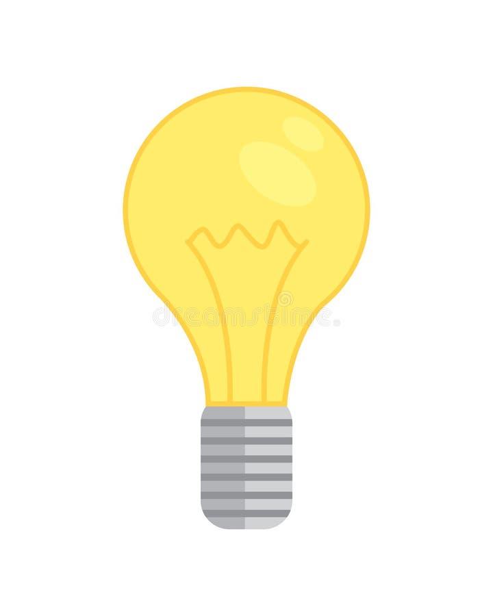 Icona della lampadina illustrazione di vettore isolata nuova idea energia della lampadina royalty illustrazione gratis