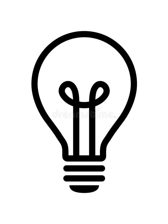 Icona della lampadina royalty illustrazione gratis