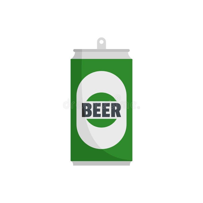 Icona della latta di birra, stile piano illustrazione vettoriale