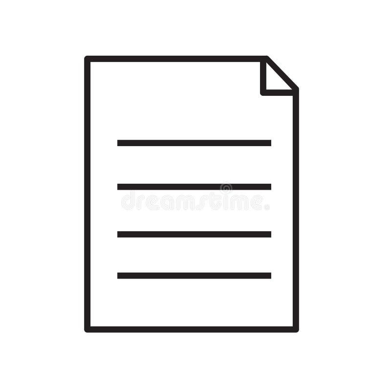 Icona della lavagna per appunti su fondo bianco segno della lavagna per appunti Stile piano simbolo del documento della lavagna p royalty illustrazione gratis