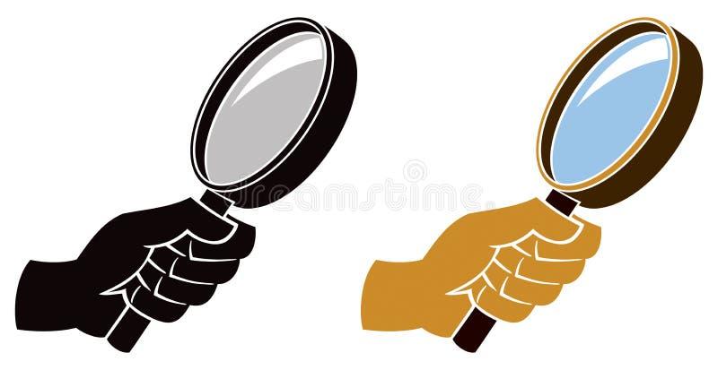 Icona della lente d'ingrandimento illustrazione vettoriale