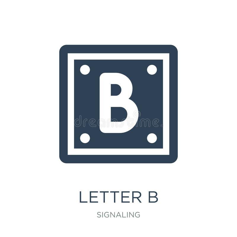 icona della lettera b nello stile d'avanguardia di progettazione icona della lettera b isolata su fondo bianco piano semplice e m illustrazione vettoriale