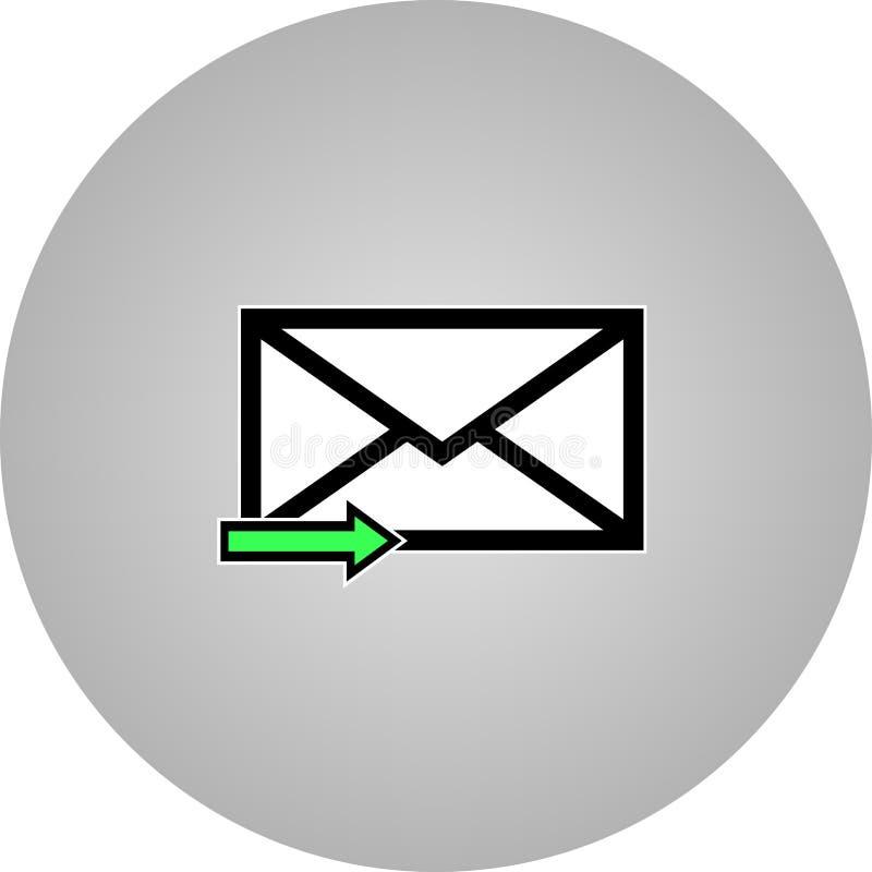 Icona della lettera di simbolo del email - vettore immagini stock libere da diritti
