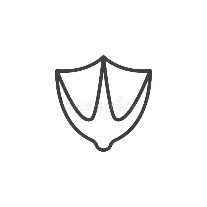 Icona della linea di stampa del disegno illustrazione di stock