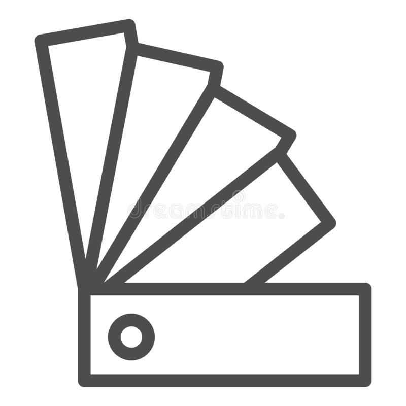 Icona della linea guida di colore Illustrazione di vettore della tavolozza isolata su bianco Progettazione di stile del profilo d illustrazione di stock
